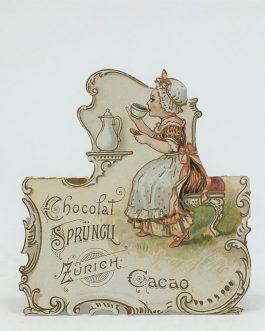 CHOCOLATE – ADVERTISEMENT – GASTRONOMY: Chocolat Sprüngli. Zürich. Cacao