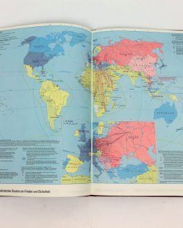THEMATIC CARTOGRAPHY / STATISTICAL ATLAS / SOVIET PROPAGANDA: Haack Atlas zur Zeitgeschichte  [Haack Atlas of the History].