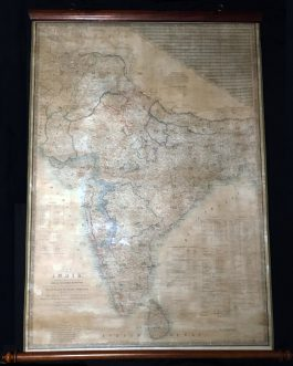 INDIA: Map of India Constructed with Great Care and Research from all the Latest Authorities and intended more particularly to facilitate a reference to the Civil and Military Stations. Dedicated to Sir James Rivett Carnac, Bart. …Arranged under the direc
