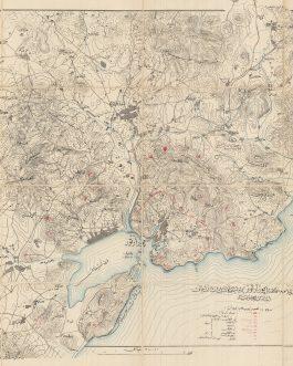 CHINA – DALIAN / OTTOMAN MAP / SIEGE OF PORT ARTHUR (1904-5):  [ پورارتور…باشلا حرب Map of the Russian-Japanese War…].