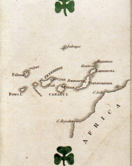 CANARY ISLANDS, Spain – CARTOGRAPHIC PLAYING CARD: 'Canary Isles' from The Court Game of Geography.
