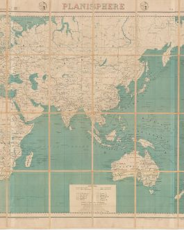FREE FRENCH FORCES WW II MAP OF THE WORLD: Planisphere.