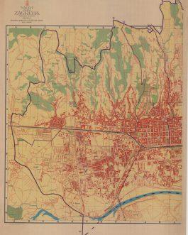 ZAGREB / CROATIA: Nacrt Grada Zagreba  [Map of the City of Zagreb]