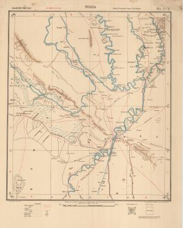 OIL-PETROLEUM HISTORY – ANGLO-PERSIAN OIL COMPANY PIPELINE / IRAN – AHWAZ, KHUZISTAN / WWI MIDDLE EAST / CALCUTTA IMPRINT:  Persia. / Arabistān Province. No. 10 A. (Rough Provisional Issue 2nd Edition). [Ahwaz].