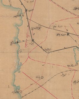 Ottoman Mss. / Telegraph Map – Greece / North Macedonia / Albania: [No Title – Map of the Telegraph System in the Vilayets of Salonica, Monastir, Janina and Scutari].