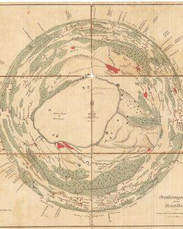 Round Panorama / Provincial Lithography:  Orientierungs-Karte Für den Hesselberg