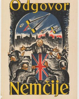 World War II Anti-Allied Propaganda V-1 Missiles Churchill