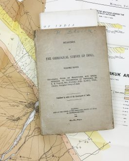 IRAQ / PETROLEUM-OIL HISTORY / CALCUTTA IMPRINT: Geological Notes on Mesopotamia with Special Reference to Occurrences of Petroleum, Memoirs of the Geological Survey of India, Volume XLVIII.