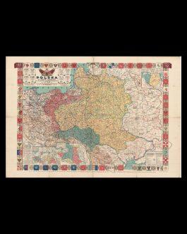 POLAND: POLSKA W TRZECH ZABORACH W GRANICACH PRZEDROZBIOROWYCH W 1770 R. ORAZ W INNYCH WAŻNIEJSZYCH OKRESACH HISTORYCZNYCH.