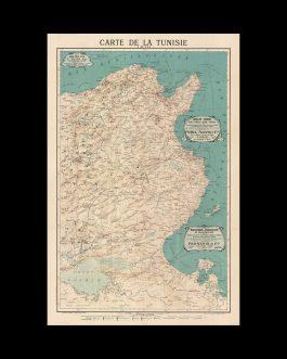 TUNISIA:  Carte de la Régence de Tunis dressée d'après les cartes nautiques de la Marine anglaise, les cartes de l'Algérie et de la Tunisie publiées par le Depôt de la guerre franc̦ais et les itinéraires des voyageurs européens, surtout de feu M. Wilmanns par Henri Kiepert.