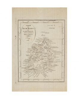 MAURITIUS: Charte von Île de France oder der Insel Frankreich Nach der Zeichnung von Bory de St. Vincent. Prag 1811