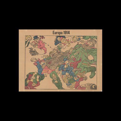 WWI Pictorial Map Europa 1914 Berlin: Reinhold Klinger 1914