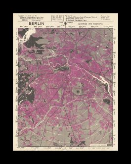 WORLD WAR II – ALLIED BOMBING OF GERMAN CITIES MAP ARCHIVE