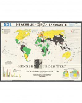 MAP OF HUNGER / THEMATIC CARTOGRAPHY: Hunger in der Welt [Hunger in the World]
