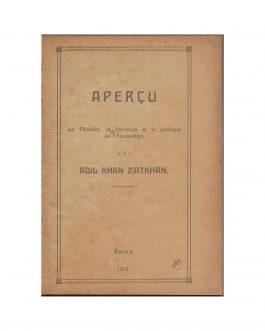 AZERBAIJANI INDEPENDENCE / PARIS PEACE CONFERENCE: Aperçu sur l'histoire, la littérature et la politique de l'Azerbeidjan