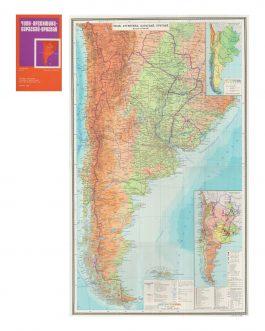 SOUTH OF SOUTH AMERICA – SOVIET CARTOGRAPHY: Чили. Аргентина. Парагвай. Уругвай [Čili. Argentina. Paragvaj. Urugvaj],