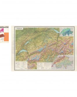 SWITZERLAND – SOVIET CARTOGRAPHY: Швейцария [Švejcarija],