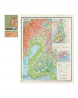 FINLAND – SOVIET CARTOGRAPHY: Финландия [Finlandija]