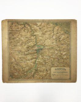 RAISED RELIEF MAP – PRAGUE (CZECH REPUBLIC):  Die Umgegend von Prag in plastischer Aufnahme von Prof. A.L. Hickmann, k.k. Bezirks-Schulinspector.