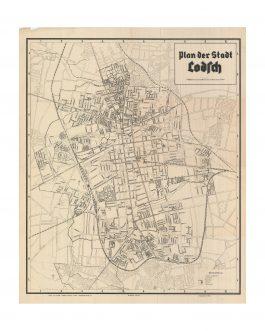WWII POLAND – ŁÓDŹ / HOLOCAUST:  Plan der Stadt Lodsch.