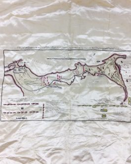 MAP PRINTED ON SILK / OBJECT D'ART / ALEXANDRIA, EGYPT / NAPOLEONIC CAMPAIGN IN EGYPT: A Plan of the Operations of the British Forces in Egypt from the Landing in Aboukir Bay on the 8th of March to the Battle of Alexandria March 21st inclusive.