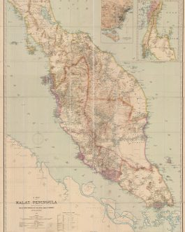MALAYSIA / SINGAPORE: A Map of the Malay Peninsula compiled by and published for the Straits Branch of the Royal Asiatic Society, Singapore 1898.
