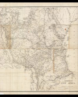 TANZANIA / RWANDA / BURUNDI – WORLD WAR I IN EAST AFRICA:  German East Africa. Scale 1:2,000,000 or 1.014 Inches = 32 Miles.