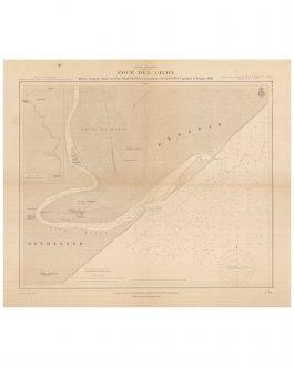 """JUBBA RIVER, SOMALIA:  Africa Orientale (Benadir) Foce del Giuba. Rilievi eseguiti dalle R. Navi """"Staffetta"""" Comandante Giavotto, Capitano di Vascello – 1908."""