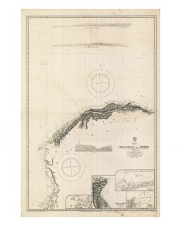 BENGHAZI, LIBYA:   Mediterranean Sea. Tripioli. Benghazi to Derna. Surveyed… under the direction of Capt.n T.A.B. Spratt, R.N.; C.B.; F.R.S. 1861.