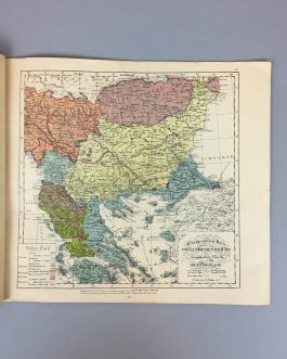 GREECE / BULGARIA / TURKEY – THRACE / WORLD WAR I / HISTORICAL ATLAS / CARTOGRAPHIC PROPAGANDA:  La Question de Thrace. Grecs, Bulgares et Turcs.