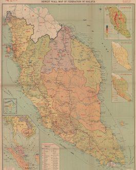 Malaysia Wall Map / Chinese Malaysians / Hong Kong Imprint: ...