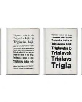 YUGOSLAV TYPES, 1920S: Vzorci črk tiskarne Maks Hrovatin. L...