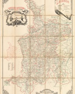 Bavaria, Augsburg: Dioecesis Augustana Jussu Illustrissimi ac Reverendissimi. Domini Domini, DRIS Petri de Hoetzl,. Episcopi Augustani anno 1896 delineata