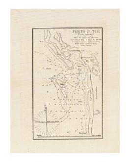 """RED SEA NAVIGATION: [EL TOR, EGYPT] Porto di Tur / Pianta originale rilevata dall'I.R. Connoniera """"Narenta"""" Comandante Cap. Di. Corv. W. Kropp."""