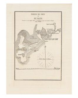 RED SEA NAVIGATION: [SUWAKIN, SUDAN]. Ingresso nel Porto di Suakin / / Secondo le carte Ingles del 1870.