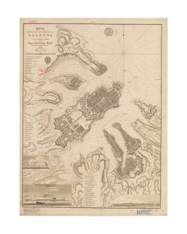 VALETTA, MALTA: Plan of the Harbours and Fortifications of V...