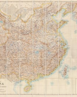 CHINA: Map of China prepared for the China Inland Mission 1898.
