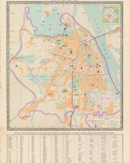 HANOI, VIETNAM / VIETNAMESE WAR: Nội thành Hà Nội: bản đò̂ chỉ đà̂n phó̂. [Inner City of Hanoi…].