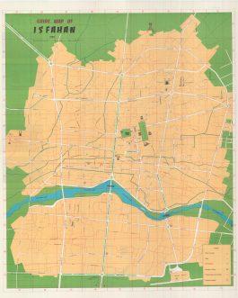 ISFAHAN / IRAN: Guide Map of Isfahan