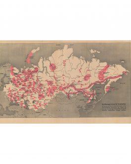 GULAGS / SOVIET UNION: Karte der Sowjet-Union 1951 / Die Sklavenprovinzen der Sowjetunion…
