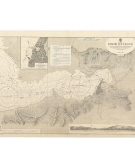 IZMIR, TURKEY: Coastline and inshore soundings west of Sas Burnu from Turkish Governmant Charts of 1941