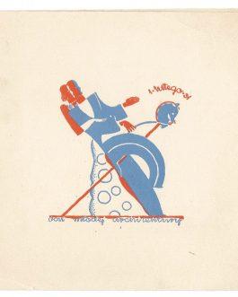 ARCHITECTURE & DESIGN / POLAND: [BAL Młodej Architektury – zaproszenie]. Zaproszenie na doroczny Bal Młodej Architektury zorganizowany 1 II 1931.