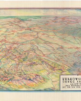 POLISH 20TH CENTURY CARTOGRAPHY: Krakowsko-śląski okręg turystyczny. Rayon touristique des districts de Cracovie et de la Silésie Polonaise.