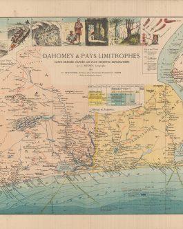 BENIN:  Dahomey & pays limitrophes / carte dressée d'après les plus récentes explorations par J. Hansen, Géographe 1892.