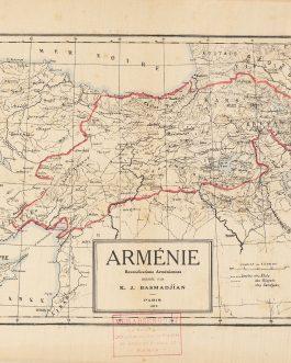 INDEPENDENT STATE OF ARMENIA: Arménie, revendications arméniennes dressée par K. J. Basmadjian.