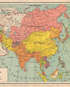 ASIA: Yeni Asya Haritasi [Map of Modern Asia]